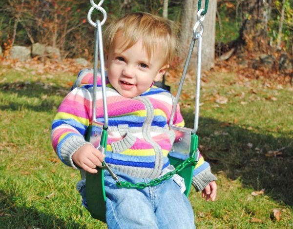 Half Bucket Toddler Swing (Chain)