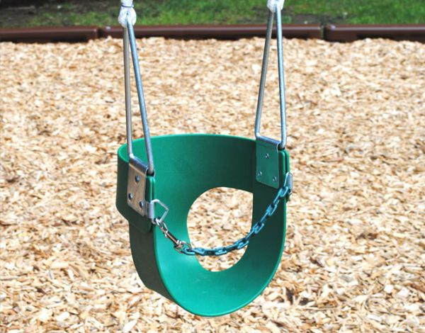 Half Bucket Toddler Swing (Rope)