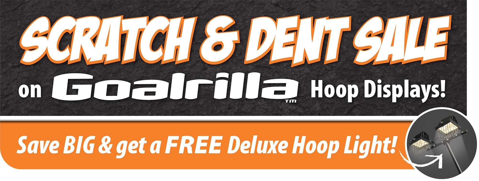 Goalrilla Basketball hoops scratch & dent sale