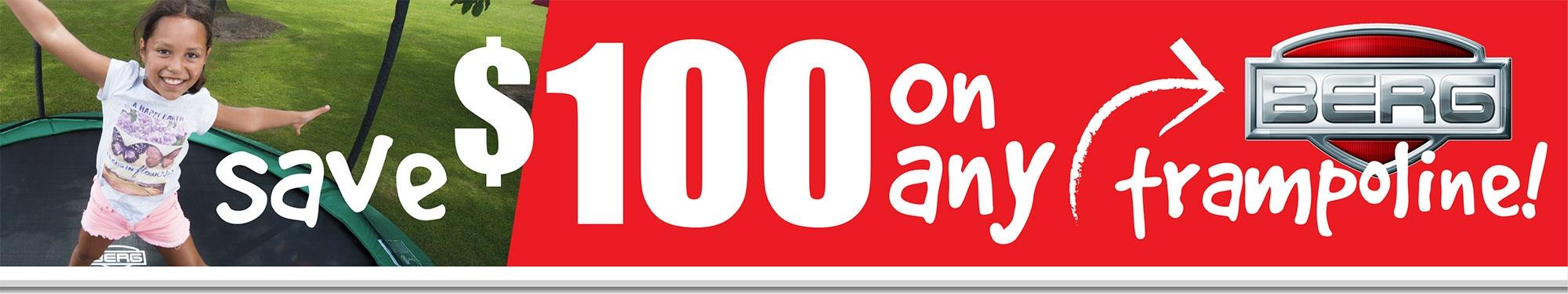 BERG Trampolines Save $100