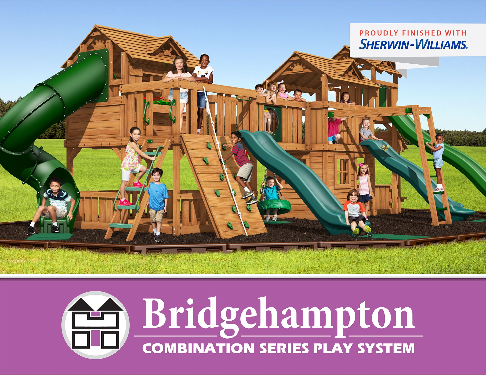 Bridgehampton Combination Swing Sets