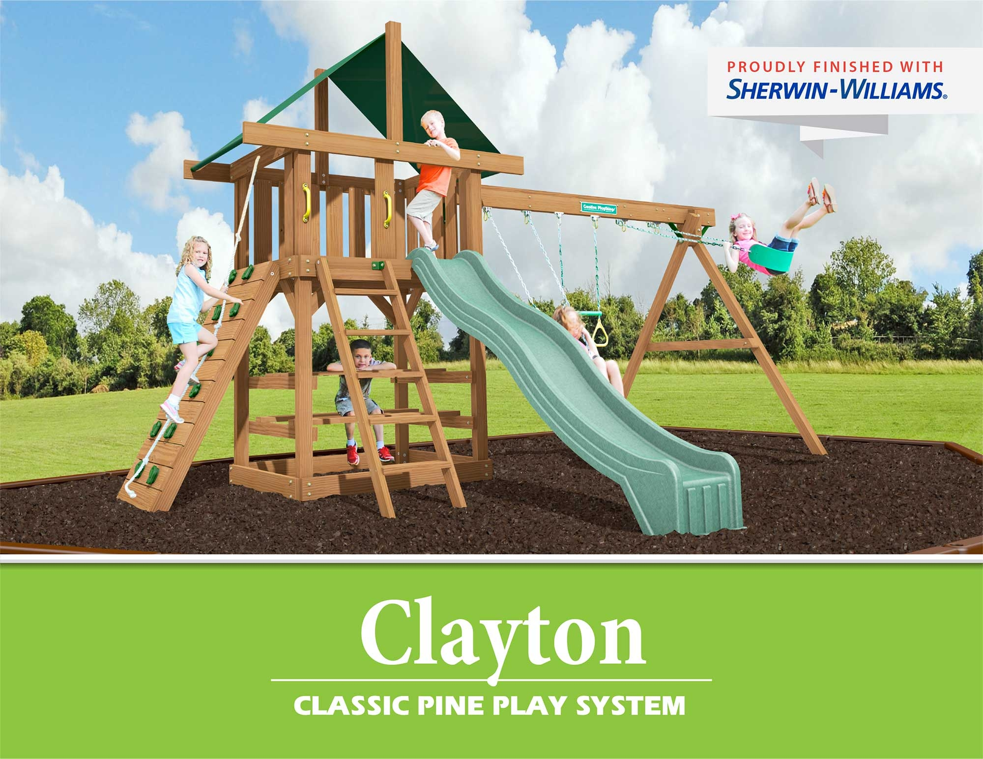 Creative Playthings Classic Pine Swing Sets