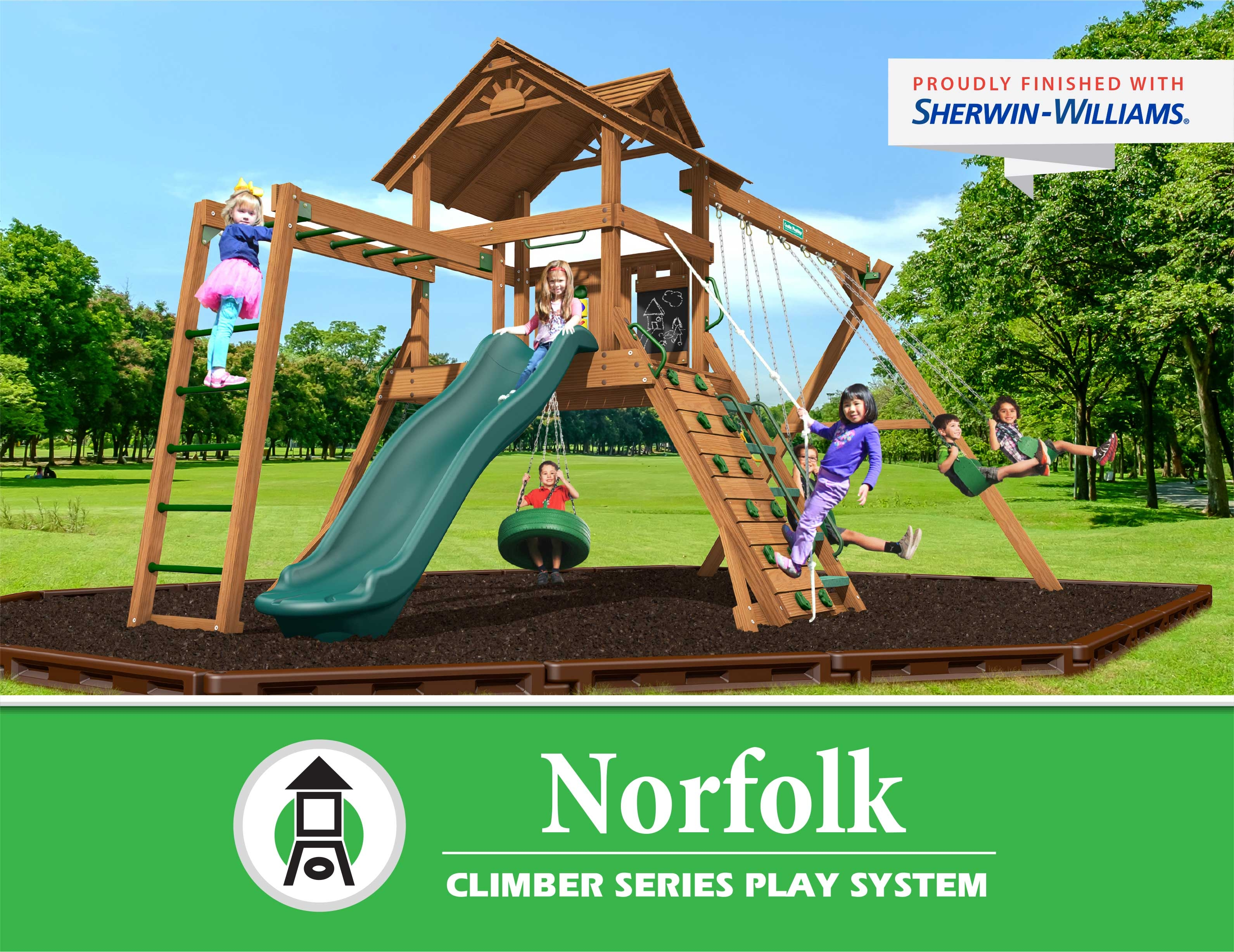 Creative Playthings Norfolk Climber Series Play System