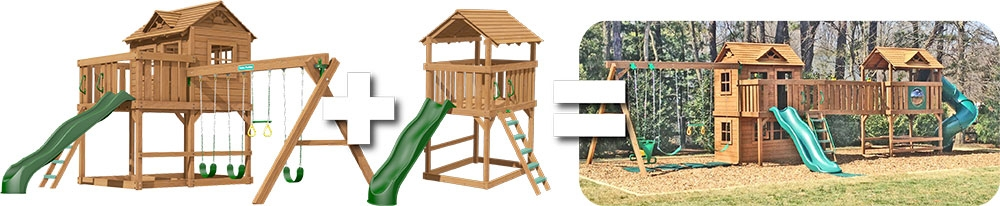 Combination Swing Sets Playsets