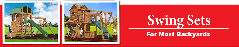 Premium Pine Swing Sets playsets