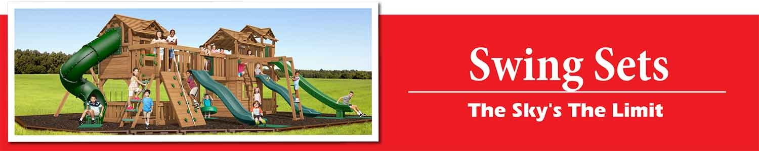 Premium Pine Swing Sets playsets