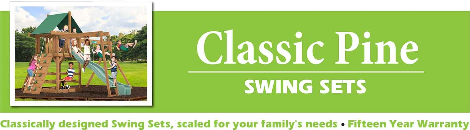 Classic Pine Swing Sets playsets