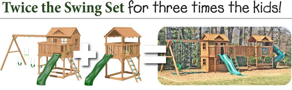 Twice the Swing Set for three times the Kids!