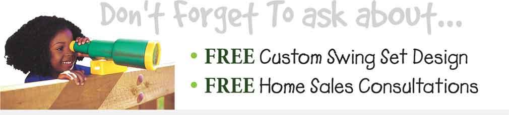 FREE custom swing set design!