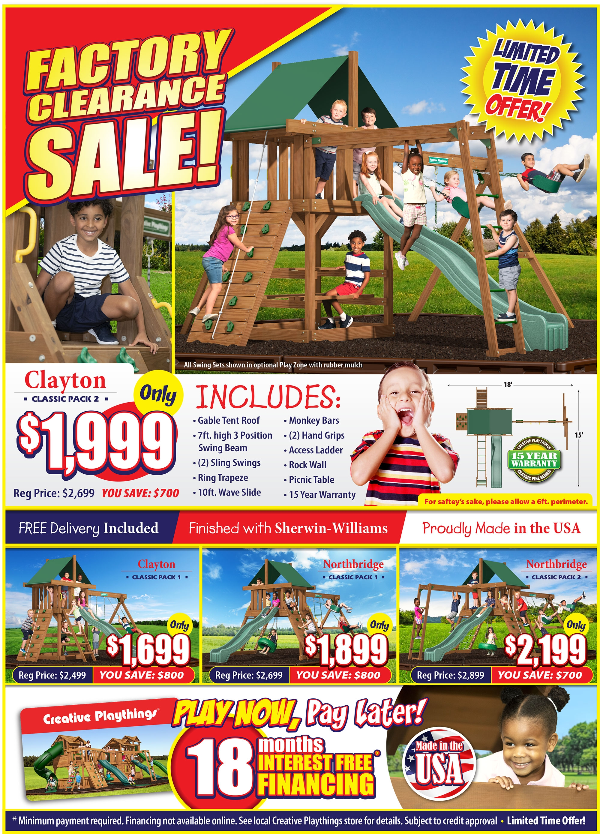 Factory Clearance Swing Sets Playsets