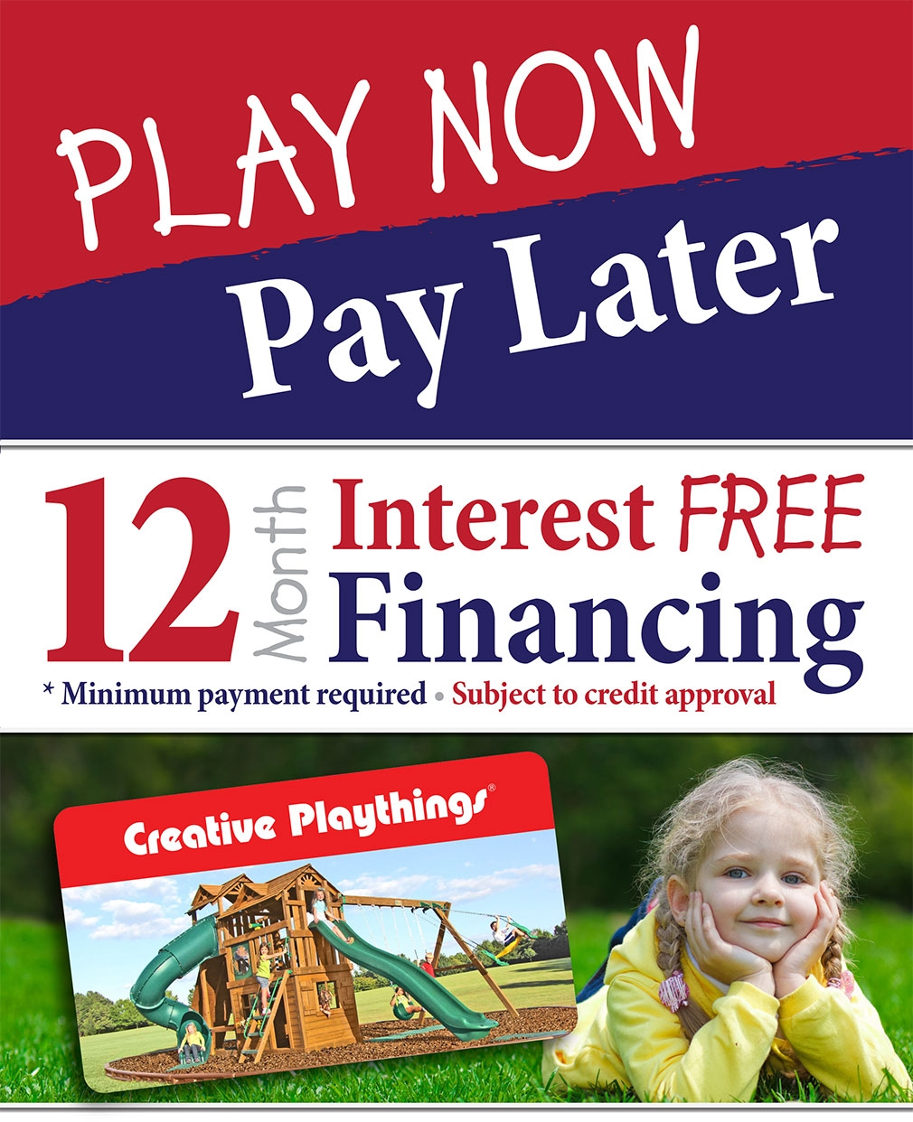 Interest FREE Financing for 12 Months!