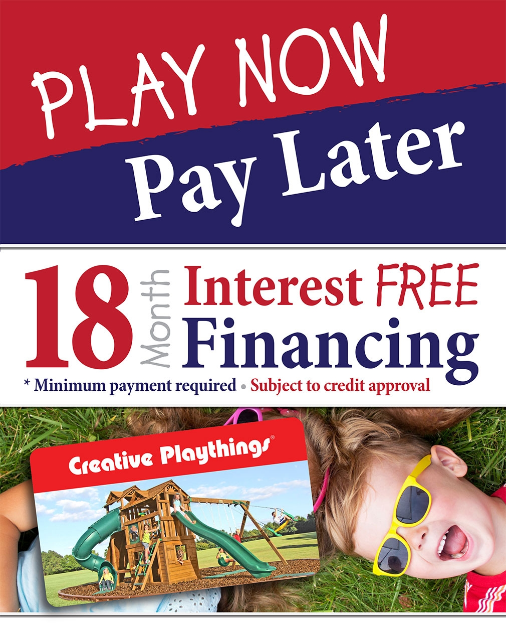 18 Month Financing Swing Sets Playsets