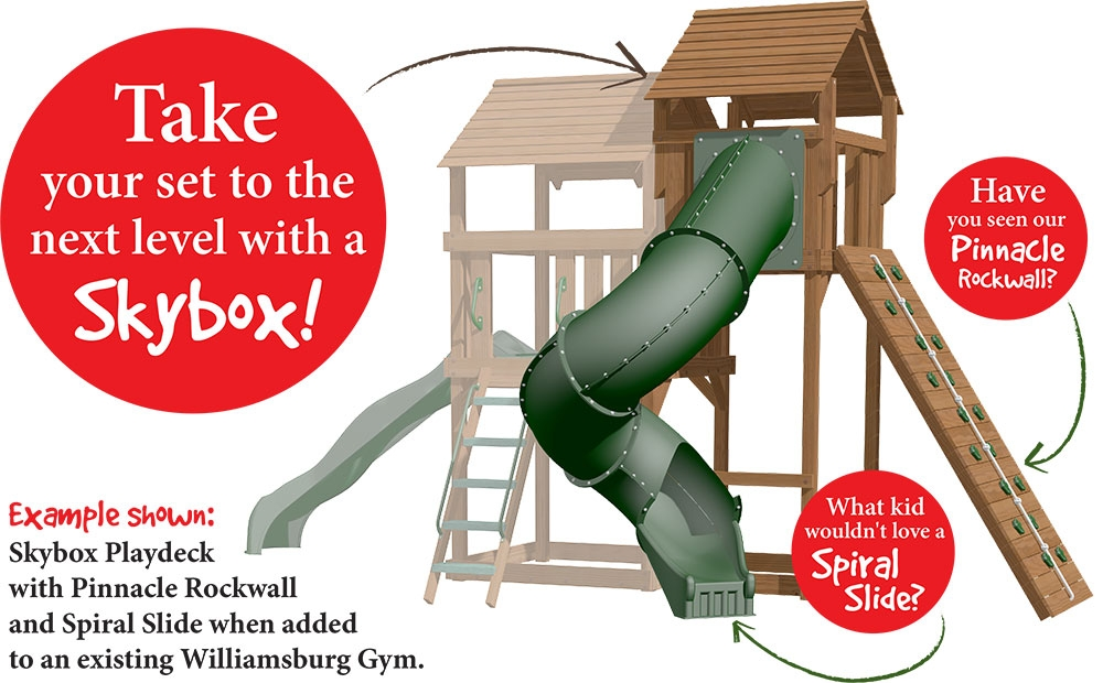 Upgrade your Creative Playthings Swing Set anytime!