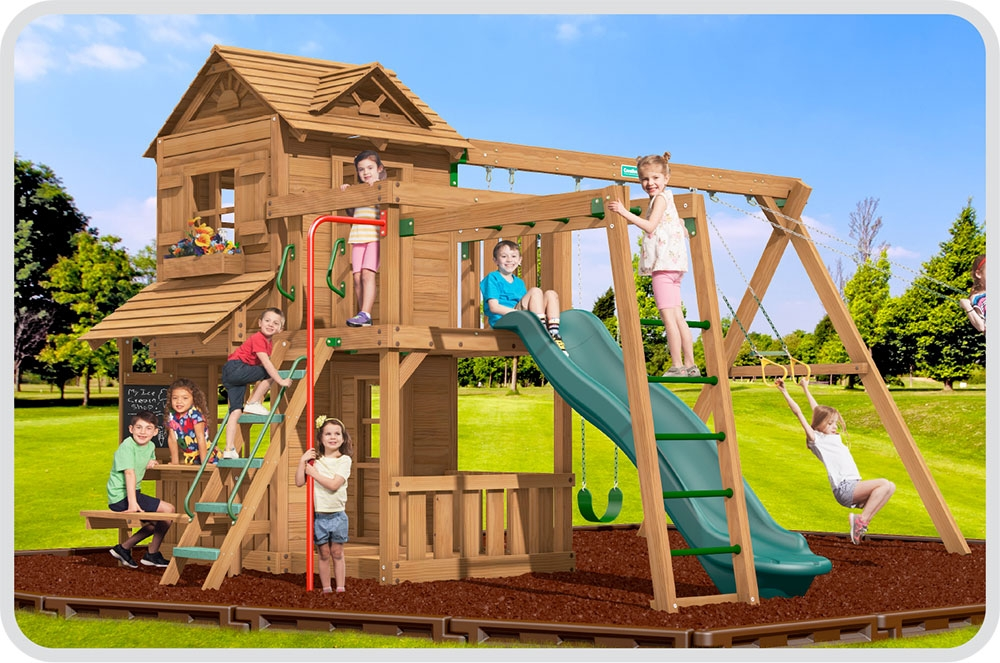 Creative Playthings Premium Pine Swing Sets