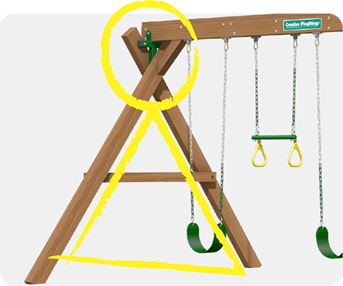 Creative Playthings builds Rock Solid Swing Sets