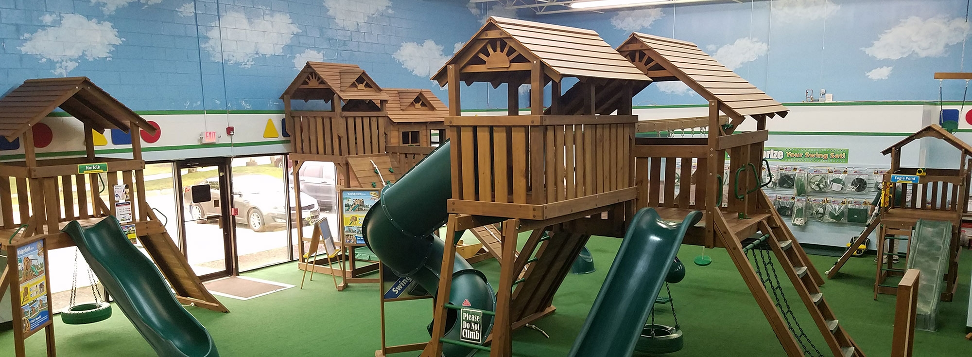 Visit a Creative Playthings showroom swing sets playset